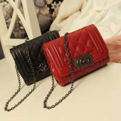 Guangzhou handbags | mini small fragrant wind bag | wild fashion Lingge package chain shoulder bag | factory outlets