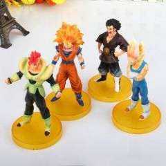 Set of 4pcs Dragonball Z Dragon Ball Action Figures DBZ Statues - Gold