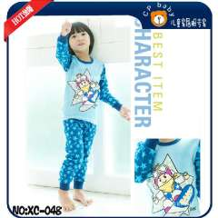 Kids Cartoon Clother Set #XC-048 \ Children Long Sleeve Cotton Pajamas \ Free Shipping