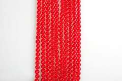 8mm red jade round bead string 15 inches