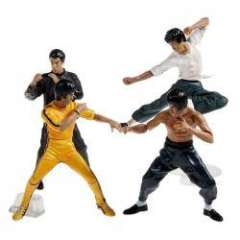 4PCS Bruce Lee Action Figure Great for Display or Decoration