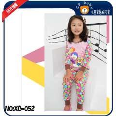 Girl's Wear #XC-052 \ Baby Long Sleeve Cotton Pajamas \ Free Shipping