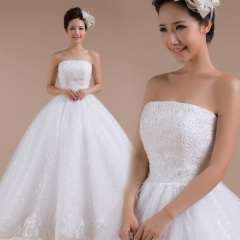 Summer 2013 wedding tube top bandage puff skirt sweet princess brief Free Shipping
