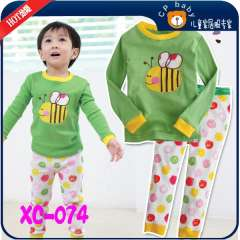 Kids Long Sleeve Clothering Set #XC-074 \ Baby Cute Bee Cottong Pajamas \ Free Shipping