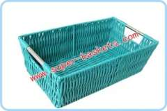 Stainless steel handle the basket