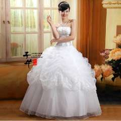 The bride wedding dress mid waist tube top bandage wedding dress thick paillette wedding dress wedding dress xl Free Shipping