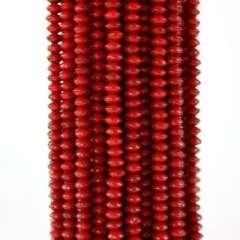 3X5MM walk up and down the red coral beaded necklace | 16英寸