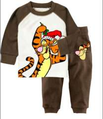 Kids Long Sleeve Cartoon Cute Tiger Cotton Pajamas #XC-147 \ Wholesale & Retail \ Free Shipping