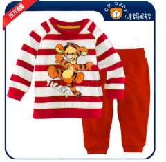 Children Popular Long Sleeve Red Striped Tiger Cotton Pajamas #XC-151 \ Wholesale & Retail \ Free Shipping