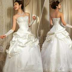 Hot-selling 2013 tube top crystal sparkling diamond sweet princess bride wedding dress Free Shipping