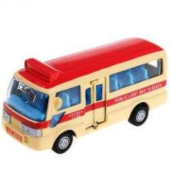 NO.4808 Cool Public Bus Toy Model Desktop Display with 16 Seats for Fans Kids