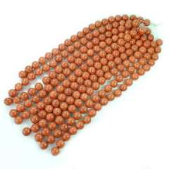 Gold sand 20 mm beads | Manual DIY | Gemstone beaded semi-finished products