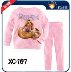 Children Long Sleeve Fahion Long Hair Girl Cotton Pajamas #XC-167 \ Wholesale & Retail \ Free Shipping