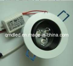 High Temperture Paint + Aluminium 3W LED Ceiling Lamp