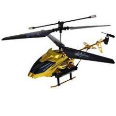 NO.703 3.5 Channel Remote Control Missile Aircraft with Light - Gold