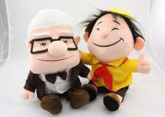 Russell and Carl From Pixar Movie Up Plush Toy Inspirational Adventure NWT