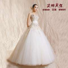 2013 lace tube top wedding dress quality luxury big puff skirt tube top train water soluble lace flower wedding dress