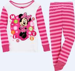 Children Pink Striped Long Sleeve Minnie Pajamas #XC-190\ 6pcs\lot, Wholesale & Retail