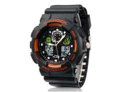 AK1055 Round Dial AL35 Movement 50 m Waterproof Diving Watch with TPU Rubber Strap (Orange) M.