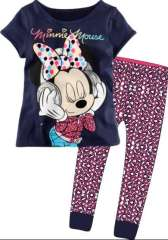 Girl Short Sleeve Cartoon Minnie Mouse Cotton Pajamas #XC-159 \ Wholesale & Retail \ Free Shipping