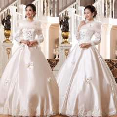 Sweet princess 2013 new arrival winter fashion winter long-sleeve plus cotton thermal bride wedding formal dress