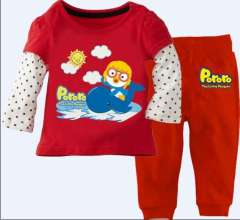 Girl Long Sleeve Cartoon Red Clothes Set #CA-025 \ Kid's Wear \ Wholesale & Retail