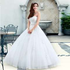 Urged 2013 new arrival handmade beaded tube top sweet princess wedding dress a971