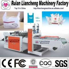 Plastic bag making machine and open mouth bag packing machine