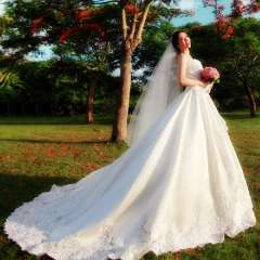Urged 2013 vintage sweet lace princess super large train tube top wedding dress 866