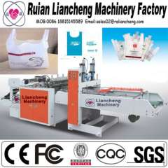 Plastic bag making machine and automatic liquid bag filling machine