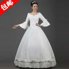 2013 lace princess wedding dress slim bride wedding formal dress mm customize plus size