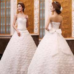 New arrival 2013 tube top sweet princess puff skirt the bride wedding dress bandage plus size wedding dress