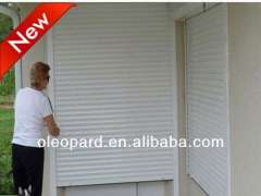 Typhoon proof rolling shutter window