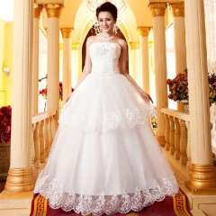 Sweet princess wedding dress 2013 slim tube top wedding dress women's