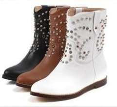 2013 Four seasons fashion women boots vintage rivet rhinestone lady martin boots casual ethic female riding boots free shipping