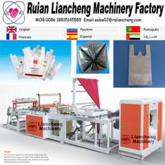 automatic bag making machine and drawstring garbage bag making machine