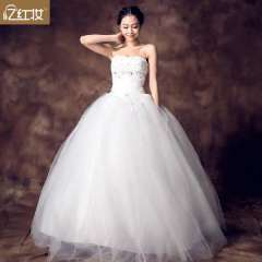 New arrival wedding dress sexy tube top diamond bridal fluffy wedding dress formal dress