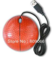 2013 hot sale 3D mini sport ball mouse, customized computer accessories optical mouse