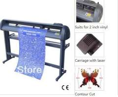 Hot 1350II contour cut Feature Servo Cutting Plotter with stand and basket