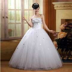 The bride wedding dress formal dress 2013 tube top wedding dress bandage wedding qi 82618