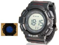 Waistband Wireless Pulse Sports Watch with 30 m Water Resistant (Black) M.