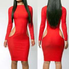 New fashion 2014 bandage dress sexy women wnter dresses novelty casual evening dress clubwear sexy lady red and black vestido