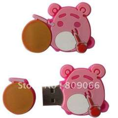 promotion gifts- --OEM Soft pvc silicon usb flash driver head holder with customized design
