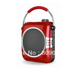 A827 Portable Amplifier with Handle\Echo Effect\30W Output Power, Supports USB, T-flash Card and FM Radio