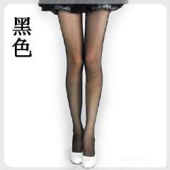 Anti- hook wire cored transparent sexy stockings even / Tights - Black ( 381 )