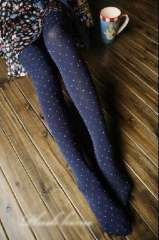 2012 new spring and summer thin Slim dot Obscure Leggings / pants thin models even - Navy