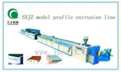 SXJZ MOEDL profile extrusion line made price in china jiangsu