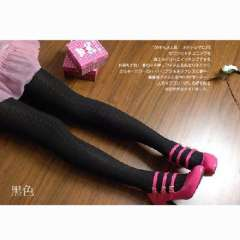 Korean version of the classic thin repair legs winter models wild color linen pattern cotton pantyhose - black ( 631 )