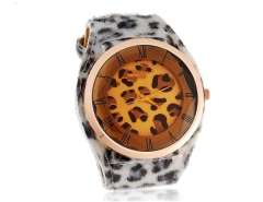 WoMaGe A35 Women's Analog Watch with Leopard Skin Pattern Strap (White) M.