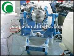 plastic pvc twin pipe extruder line